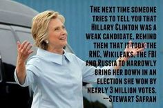 I have to admit as much as I like Hillary she did have her problems but it still took a hell of a lot for the right to beat her & they still lost the popular vote.