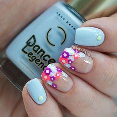 Floral Negative Space Nails