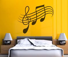 Vinyl Wall Decal Sticker Musical Notes #OS_MB337 | Stickerbrand wall art decals, wall graphics and wall murals.