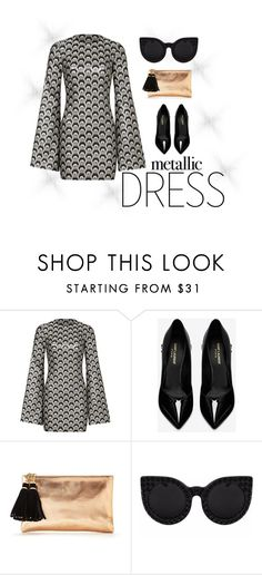 """""""Untitled #1469"""" by christawallace on Polyvore featuring Rubin Singer, Yves Saint Laurent and Delalle"""