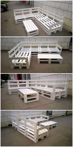 Innovative ways to recycle wooden shipping pallets . table design Innovative ways to recycle wooden shipping pallets . Diy Furniture Table, Pallet Garden Furniture, Couch Furniture, Barbie Furniture, Furniture Design, Furniture Layout, Furniture Arrangement, Furniture Stores, Palette Furniture