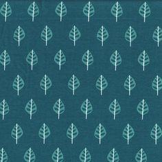 Stoff+Sweat+Blätter+petrol+grün+Cuddly+von+Nähhimmel+auf+DaWanda.com