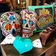 Houston Texas Small Business Store Dia de los Muertos Pillows Sugar Skull Pillows (713)880215
