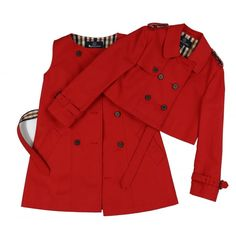 Girl's Red Aquascutum Double-Breasted Coat and Dress Set / Free UK Delivery & Returns on all Orders