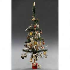 german feather christmas tree c 1920 miniature christmas trees christmas tree baubles - Feather Christmas Tree Decorations