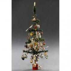 German Feather Christmas Tree, c. 1920