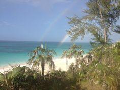 Rainbows on the beach...