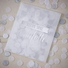 "A pack of 10 silver and white confetti envelopes, perfect for the big day!Pack of 10 envelopes of stunning confetti envelopes are filled with delicate circle shaped tissue paper confetti in white and silver, perfect for showering the happy couple! Confetti is presented in lovely white envelopes with gold foiled wording ""Throw some confetti"" each pack comes with 7g confetti and the box contains 10 envelopes.Tissue paper confetti. Each pack comes with 7g confetti and the box contains 10…"