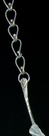 Tear link chain: this chain is easy to make and uses no solder - Catena semplice, ma d'effetto, in argento