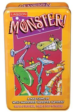 Monster Game A mad game of well-mannered monster mayhem! A fantastically fun game Monster Games, Gadget Gifts, Fun Games, Cool Gifts, Gifts For Kids, Lunch Box, Fun Drinking Games, Gifts For Children, Cool Presents