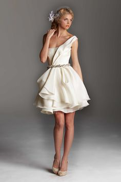 Rafael Cennamo short ballerina-style wedding dress, Holiday/Spring 2013