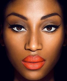 red lip african american make up | african american model # models of color # bold # make up