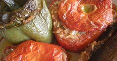 """Si pronuncia """" ghemistà """" ed è un ottimo piatto servito sia da solo o accompagnato dall'immancabile feta . Solitamente è considerato pia..."""