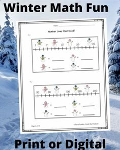 Teach winter math activities to 2nd grade elementary students w/ easy use print or digital worksheets on Teachers Pay Teachers. Lesson plan includes place value, number line, patterns, word problems, mathematics Core standard curriculum instruction