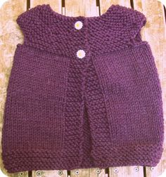 knitted baby vest....please make this for Zoe!!!!!!!