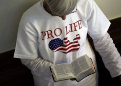 This  picture speaks volumes! Proud to be Pro-Life and an American.  The pro-life crowd was quiet and in prayer throughout the day.
