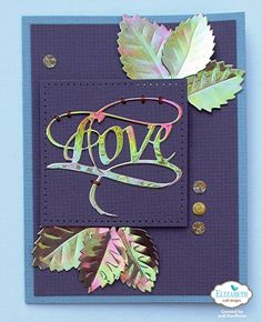 Shimmer Sheetz Love & Leaves Card