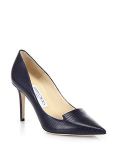 Alia Embossed Leather Notched Pumps by: Jimmy Choo @Saks Fifth Avenue (Global)