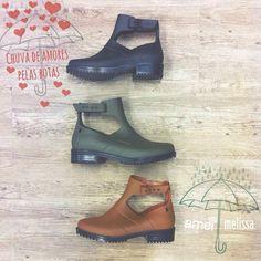 Faça chuva ou faça sol vá de bota @melissaoficial ❤️ #melissa #lojaamei #lindas #bota #moda #chuva #sol