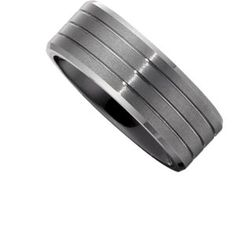 Ceramic Couture™ 8mm with Tungsten Overlay Band | Stuller CR037:110:P fs 10.5