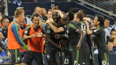 GOAL: Seattle Sounders Djimi Traore finishes for Sounders win against Sporting Kansas City 8 May 2013