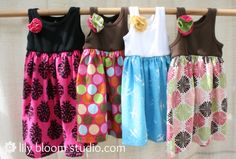 Simple Summer Dresses-I really need to learn how to sew.  These lk easy peasy and cute!