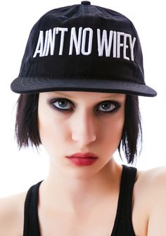 Dimepiece Ain't No Wifey 6-Panel Cap | Dolls Kill