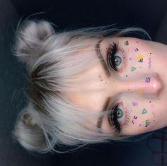 ideas for eye brown makeup freckles Makeup Goals, Makeup Inspo, Makeup Art, Makeup Inspiration, Eye Makeup, Hair Makeup, Makeup Tips, Cute Makeup Looks, Creative Makeup Looks