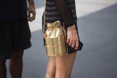 golden bag #NYFW #Fashiolista