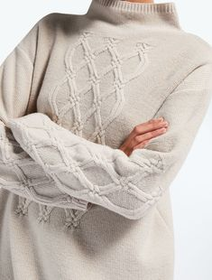 Enter the world of Max Mara: let yourself be won over by the elegance and hand-crafted quality of our collections. Cable Sweater, Max Mara, Knit Dress, Knitwear, Knit Crochet, Jumper, Cashmere, Cross Stitch, Turtle Neck