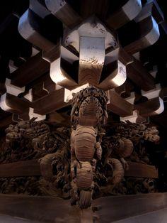 Carved foundation of Shibamata Taishakuten temple, Tokyo, Japan