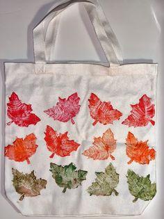 Leaf Print Tote Bag by Abigail Davidson; Side 1