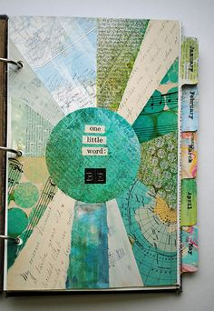 One Little Word mini book // art journal page