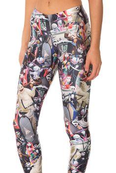 Nightmare Before Christmas Leggings (WW $85AUD / US $80USD) by Black Milk Clothing