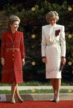 "November 11, 1985: Princess Diana with Mrs. Nancy Reagan at the Springfield Drug Rehabilitation Center called ""Straight"" in Springfield, Virginia."