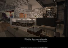Bonfire Restaurant, Bar Areas, Open Kitchen, Interior, Indoor, Interiors