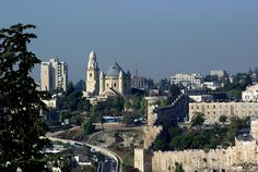 """Mount Zion, which was the site of the Jebusite fortress called the """"stronghold of Zion"""" that King David conquered Samuel is a hill in Jerusalem just outside the walls of the Old City. Mount Zion is also the traditional site of the Last Supper. Paris Skyline, New York Skyline, Mount Hermon, Sinai Peninsula, Mount Of Olives, Sea Of Galilee, Promised Land, Holy Land, Old City"""