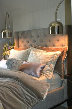 Perfect reading lights, a muted soft glow, it just looks inviting...and romantic.