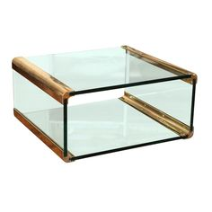 Bronze and Glass Coffee Table  Canvas Vintage. Perfect for those with little ones.