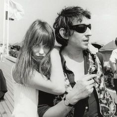 Serge Gainsbourg and Jane Birkin, July 23, 1970 Photographic Print by Luc Fournol at AllPosters.com