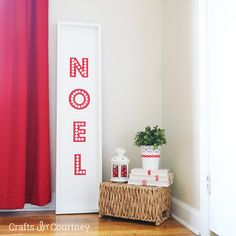 DIY Noel Christmas Sign: Pottery Barn Kids Knockoff  - Crafts by Courtney - Easy Christmas Crafts