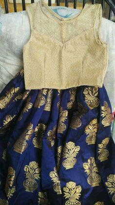 Baby Dresses, Little Dresses, Pretty Dresses, Kids Indian Wear, Kids Ethnic Wear, Kids Fashion, Women's Fashion, Indian Jewellery Design, Indian Designer Wear