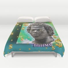 bitch better have my money Duvet Cover by Gl♞t€h - $99.00 bbhmm