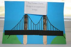 Popsicle Stick Golden Gate Bridge Craft #ArtsAndCrafts #KidsCrafts #Crafts #DIY…