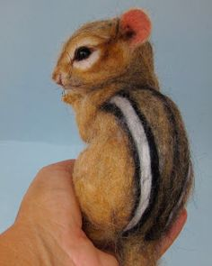 Needle Felted Art by Robin Joy Andreae: 3 New Ones, A Piggy, Chipmunk & Little Mouse
