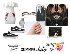 """""""Summer Day Glowin"""" by uglyrugwil on Polyvore featuring WithChic, Vans and Michael Kors"""