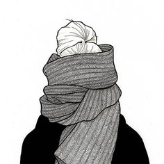 Autumn weather has me feeling like... #ink #inktober #inktober2016 #fashion #illustration #fashionillustrator #fashionillustration #art #drawing #sketch #fashionsketch #painting #scarf #cold #topknot #updo #autumn #fall @artistsnetwork