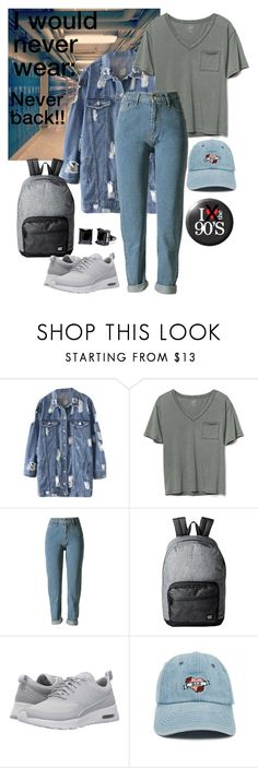 """Ugly-Fugly: Never Back To 1990's School!"" by giovanina-001 ❤ liked on Polyvore featuring Gap, Herschel Supply Co., NIKE, Forever 21 and Simon Frank"