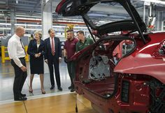 Theresa May and Philip Hammond also yesterday began a major new Brexit push as they visited manufacturing firms