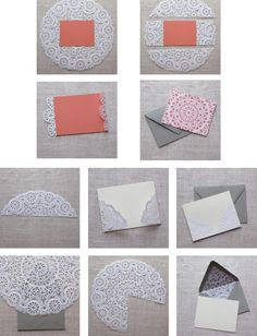 DIY Doily Envelope Liners